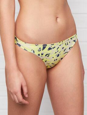 Braguita bikini estampado leopardo anís.