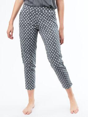 Pantalón largo estampado margaritas c.gris.