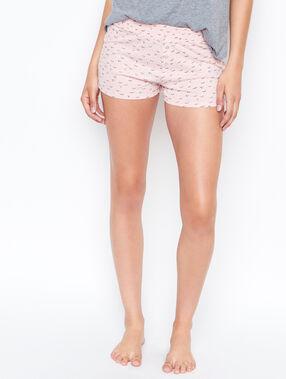 Pantalón corto estampado rosa.