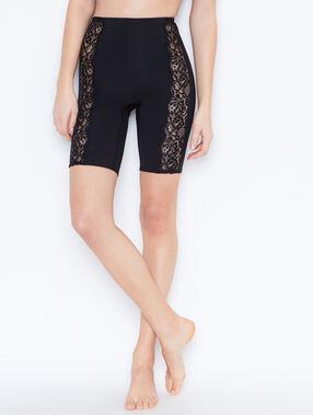 Pantalón tipo media moldeador negro.