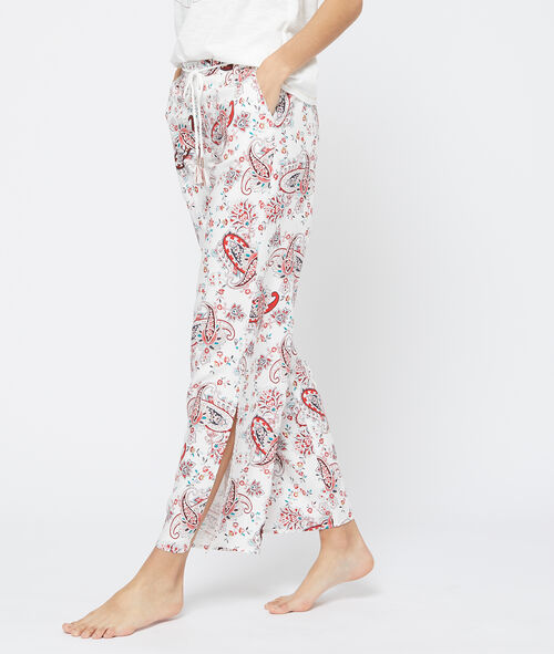 Pantalón estampado de cachemira