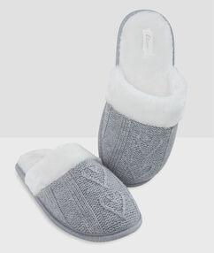 Zapatillas tejido trenzado c.gris.