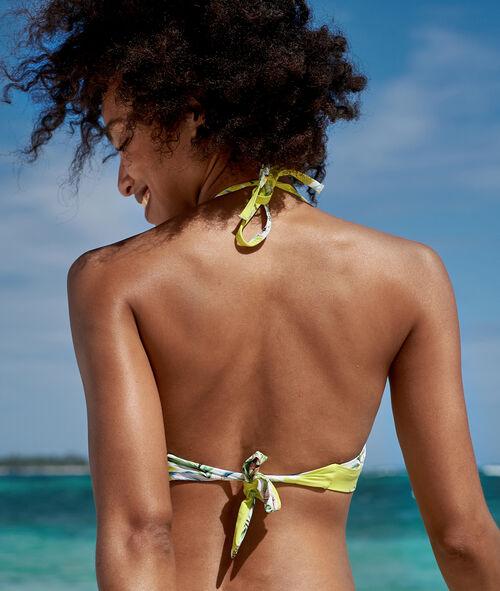 Sujetador bikini triangular estampado tropical