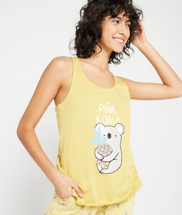 Top estampado 'piña koala';${refinementColor}
