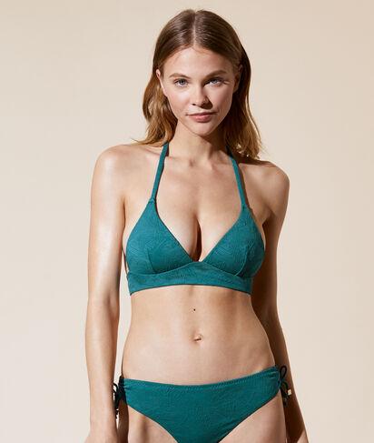 Sujetador bikini triángulo, bordado palmeras;${refinementColor}
