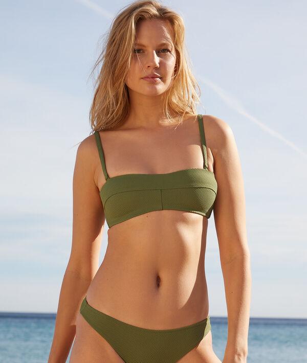 Sujetador bikini bandeau, copas extraíbles;${refinementColor}