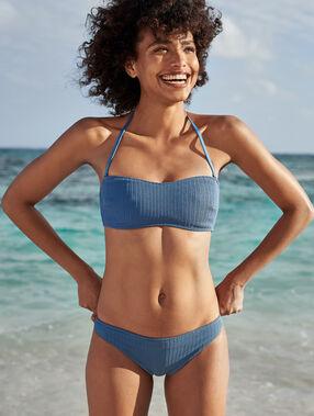 Sujetadir bikini tirantes extraíbles azul.