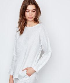 Camiseta manga larga lisa crudo.