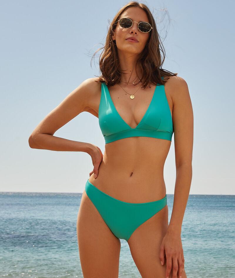 Sujetador bikini itrángulo, sin aros;${refinementColor}
