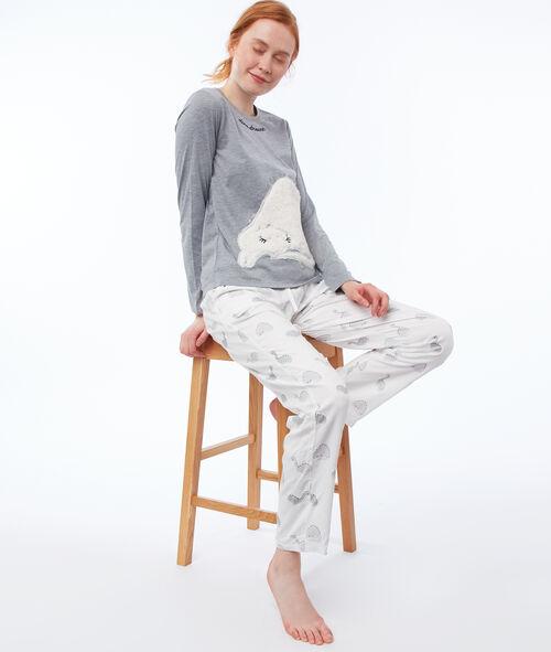 Pijama 3 prendas estampado dinosaurio