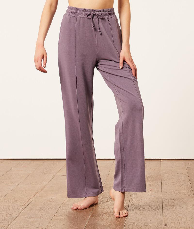 Pantalón pijama, corte recto;${refinementColor}