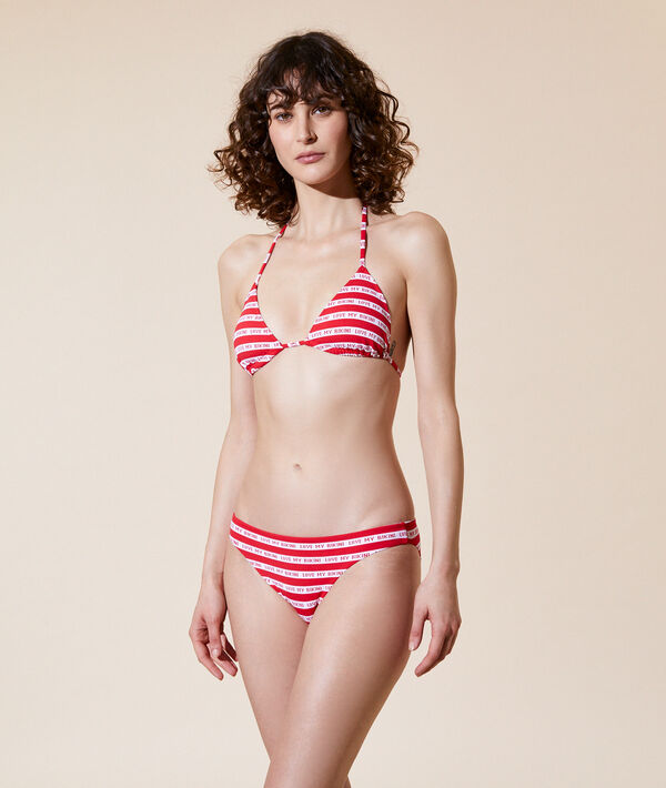 Sujetador bikini triángulo, 'Love my bikini';${refinementColor}