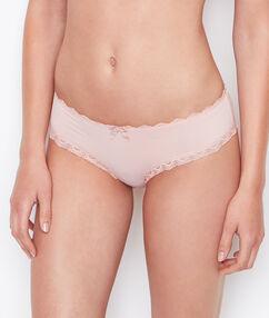 Braguita brasileña dos texturas rosa pálido.