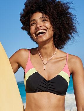 Top bikini colorblock negro.