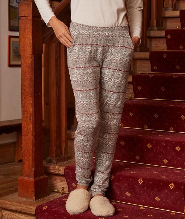 Pantalón estampado motivos invernales