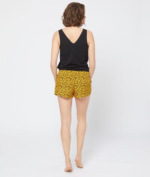 Pantalón corto estampado leopardo