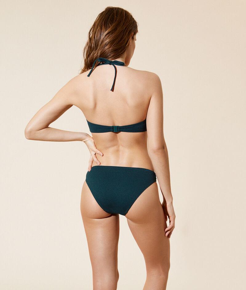 Braguita bikini lisa, hebillas decorativas;${refinementColor}