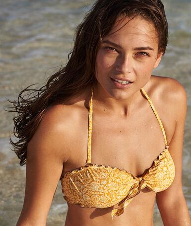 Sujetador bikini tirantes extraíbles c.ocre.