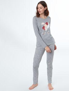 Camiseta manga larga corazón c.gris.