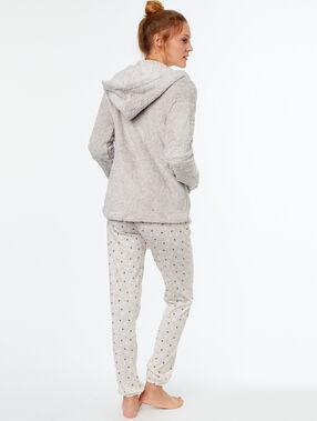 Pijama 3 piezas  beige.