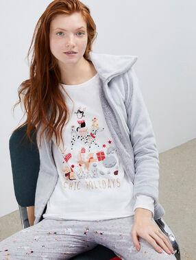 Pijama 3 piezas inspiración navideña c.gris.