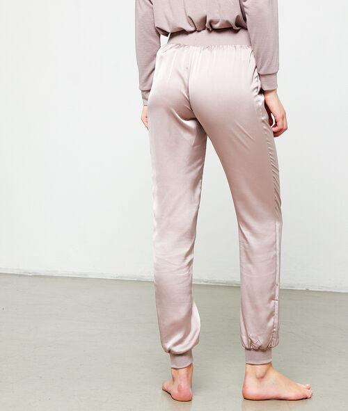 Pantalón de satén liso
