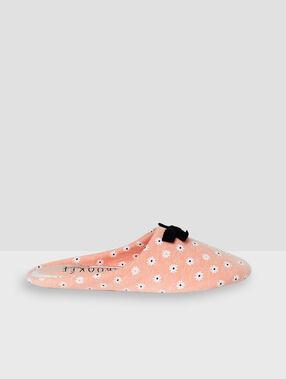 Zapatillas estampado floral rosa.