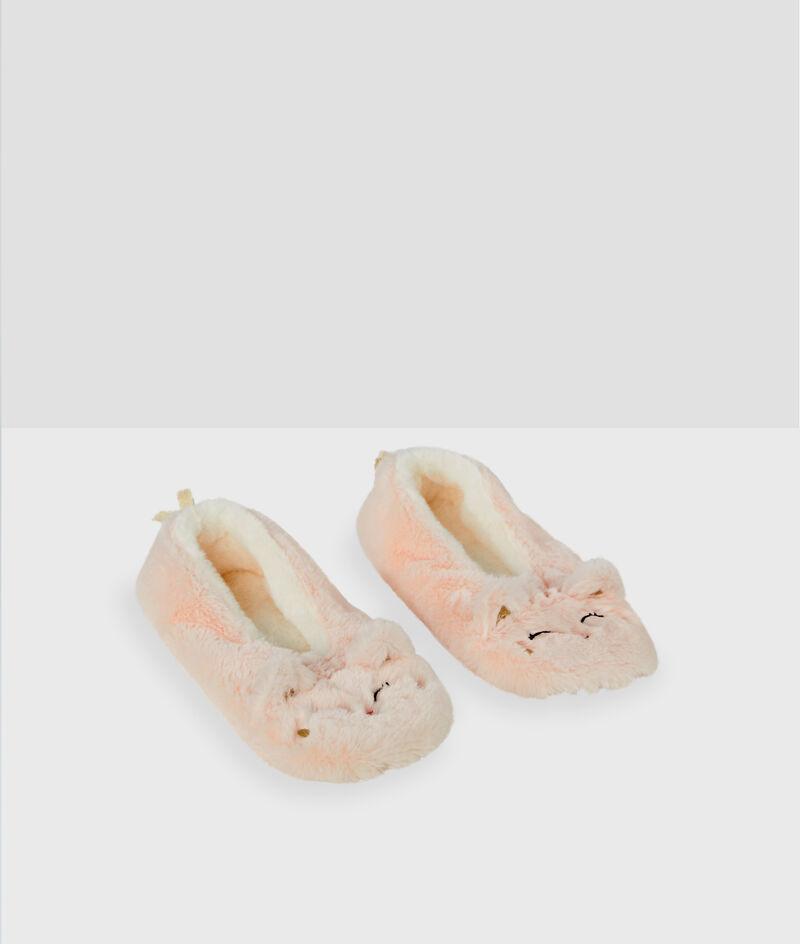 Zapatillas tejido peluche gato;${refinementColor}