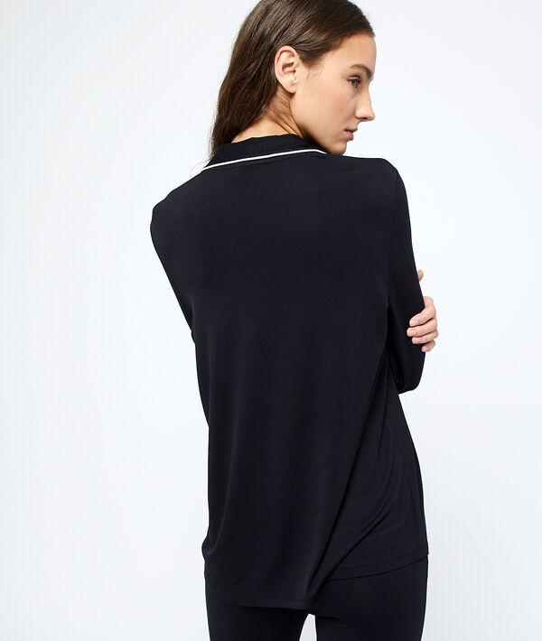 Camisa pijama franjas laterales;${refinementColor}