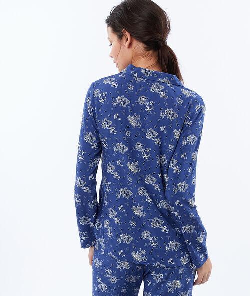 Camisa pijama estampado cachemira