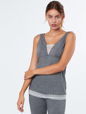 Pijama 2 piezas c.gris.