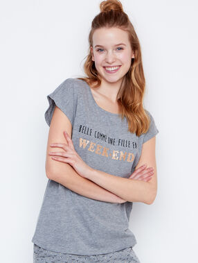 Camiseta mensaje c.gris.