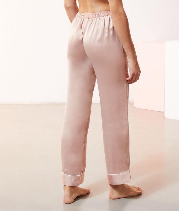 Pantalón pijama de satén;${refinementColor}