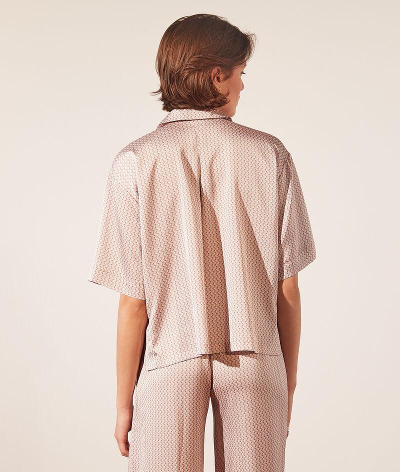 Camisa pijama satén estampada;${refinementColor}