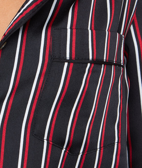 Camisa pijama estilo masculino a rayas