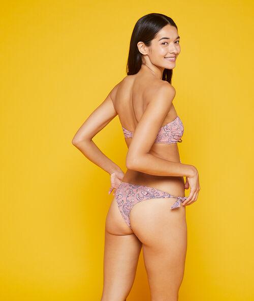 Braguita bikini lazos laterales estampada