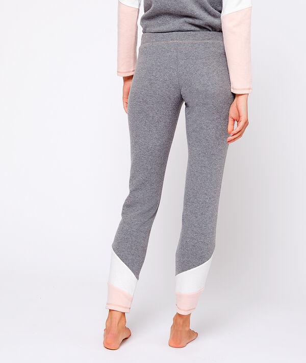 Pantalón homewear con franjas contrastadas