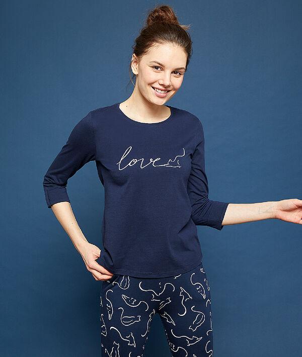 Camiseta estampado 'love';${refinementColor}