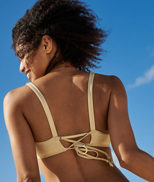 Top bikini lamé