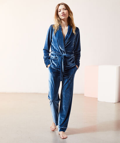Chemise de pyjama velours;${refinementColor}