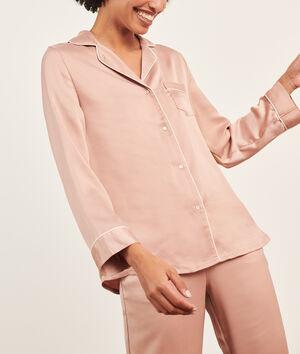 Camisa pijama de satén;${refinementColor}