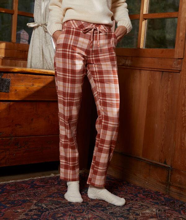 Pantalón estampado de cuadros