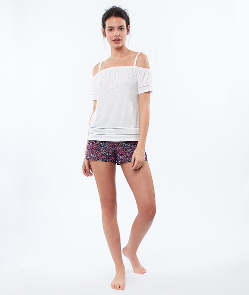 Pantalón corto estampado cachemira