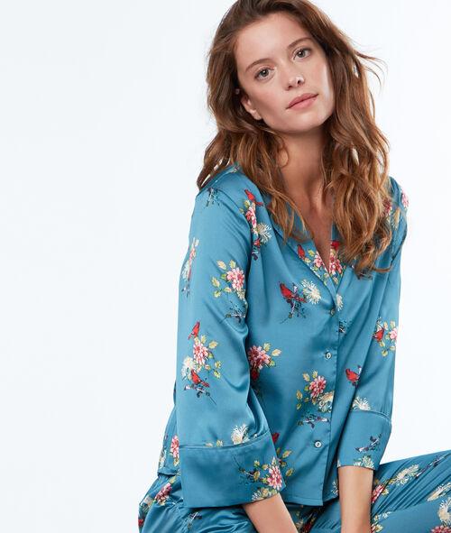 Camisa pijama estampado floral