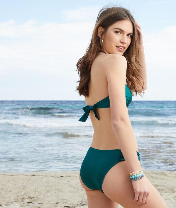 Sujetador bikini bandeau anundado sin aros;${refinementColor}