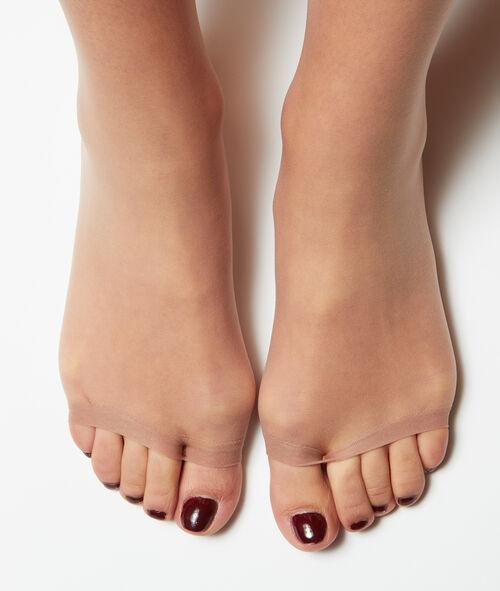 Medias finas efecto invisible, abertura en los dedos de los pies
