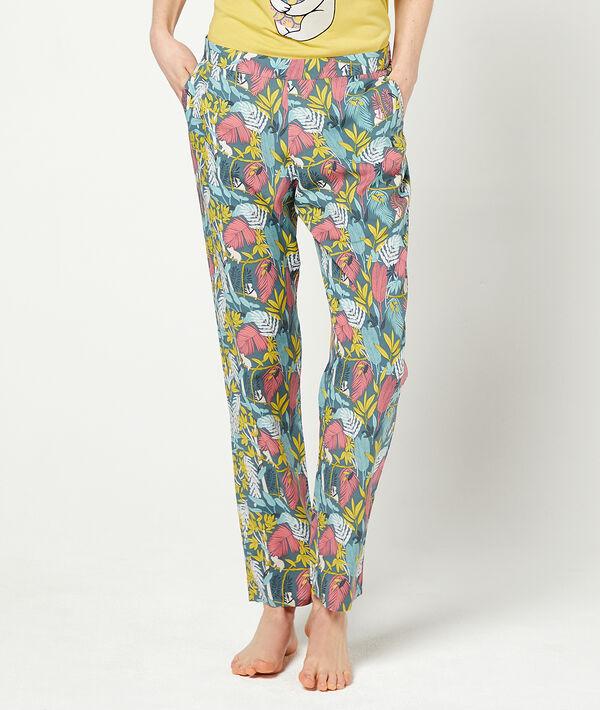 Pantalón largo estampado floral;${refinementColor}
