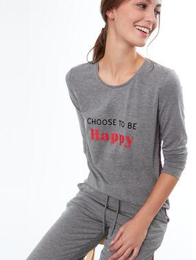 Camiseta mensaje estampado c.gris.