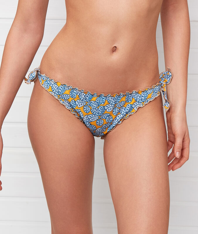 Braguita bikini estampado africano multicolor.