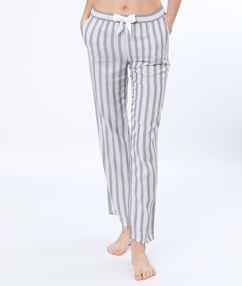 Pantalón estampado a rayas c.gris claro.